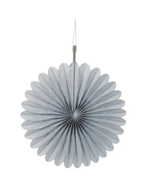 3 decorative paper fans in silver tone (15,2 cm) - Basic Colours Line