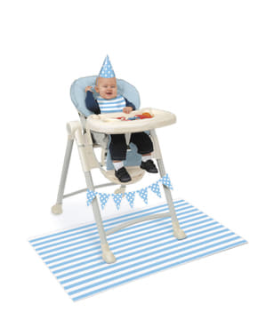 1. Geburtstag Set blau-weiß