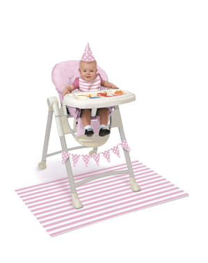 Roze witte 1e verjaardag set