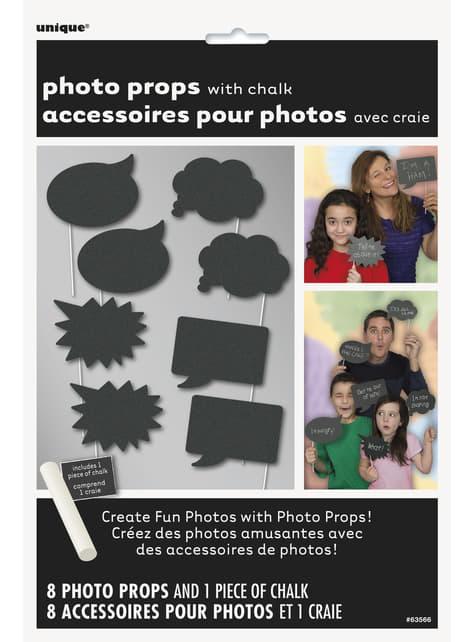 10 accesorios photocall - Grafito - para niños y adultos