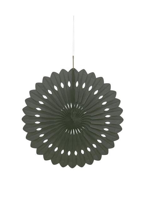 Abanico de papel decorativo color negro - Línea Colores Básicos