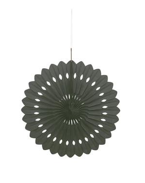 Koristeellinen paperiviuhka mustana - Perusvärilinja