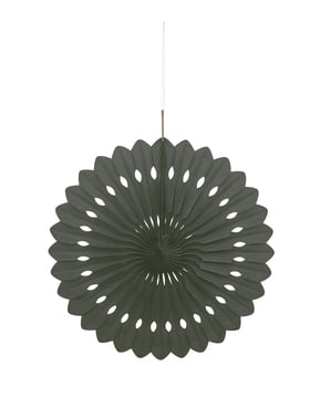 Rosace en papier couleur noir - Gamme couleur unie