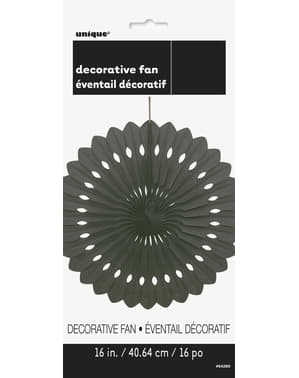 Decorative paper fan in black - Basic Colours Line