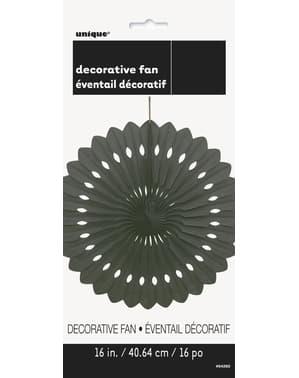 Leque de papel decorativo cor preto - Linha Cores Básicas