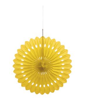 Abanico de papel decorativo color amarillo - Línea Colores Básicos