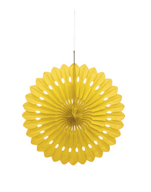 Decorative paper fan in yellow - Basic Colours Line