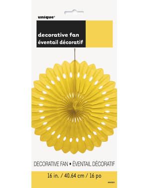 Leque de papel decorativo cor amarelo - Linha Cores Básicas