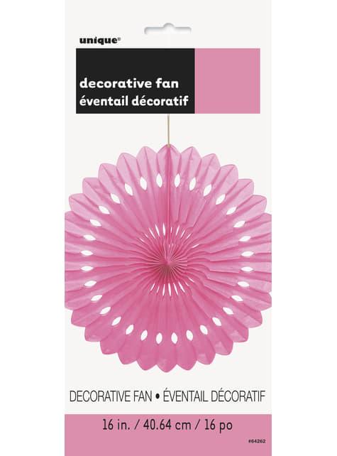 Abanico de papel decorativo color rosa- Línea Colores Básicos - para tus fiestas