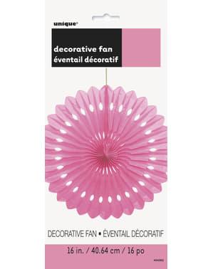 Koristeellinen paperiviuhka pinkkinä - Perusvärilinja
