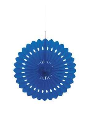 Rosace en papier couleur bleu foncé - Gamme couleur unie