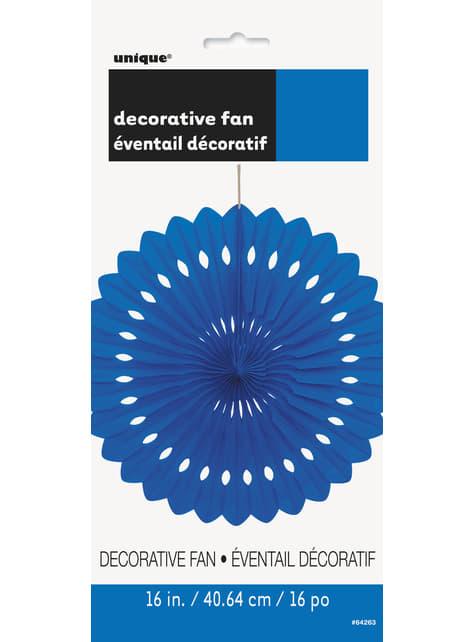 Abanico de papel decorativo color azul oscuro - Línea Colores Básicos - para tus fiestas