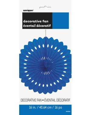 Decoratieve papieren waaier in het donkerblauw - Basiskleuren collectie