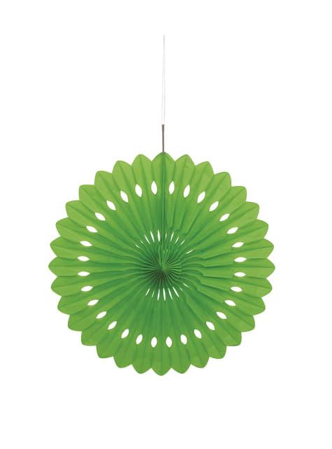 Abanico de papel decorativo color verde lima - Línea Colores Básicos