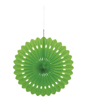 Rosace en papier couleur vert citron - Gamme couleur unie