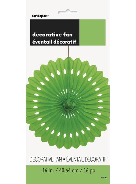 Abanico de papel decorativo color verde lima - Línea Colores Básicos - para tus fiestas