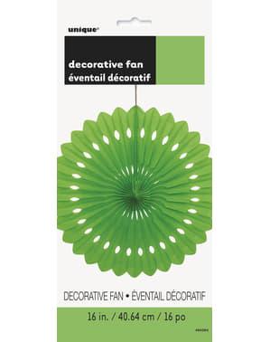 Decoratieve papieren waaier in het limoengroen - Basiskleuren collectie