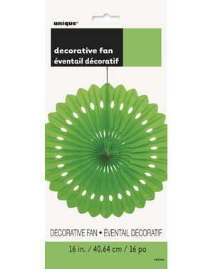 Decorative paper fan in lime green - Basic Colours Line