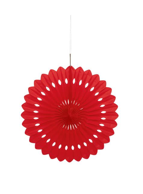 Abanico de papel decorativo color rojo - Línea Colores Básicos