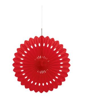 Koristeellinen paperiviuhka punaisena - Perusvärilinja