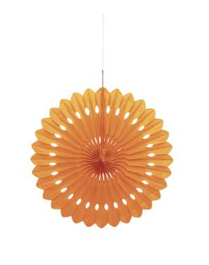 Leque de papel decorativo laranja - Linha Cores Básicas