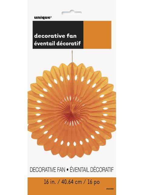Abanico de papel decorativo naranja - Línea Colores Básicos