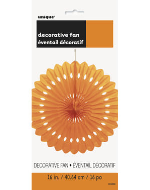Decorative paper fan in orange - Basic Colours Line