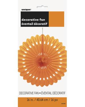 Rosace en papier orange - Gamme couleur unie
