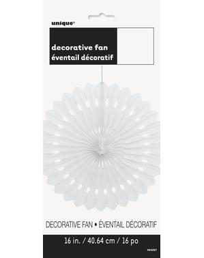 Decoratieve papieren waaier in het wit - Basiskleuren collectie