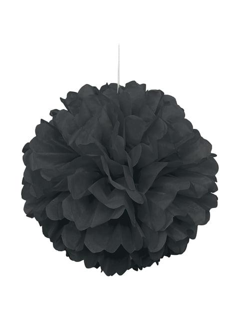 Pompón decorativo color negro - Línea Colores Básicos