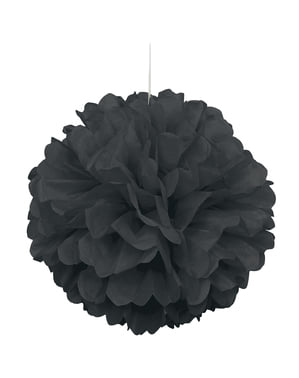 Decorative Black Pom-Pom - Basic Colours Line