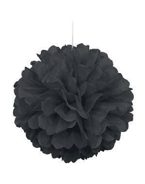 Pompom decorativo cor preta - Linha Cores Básicas