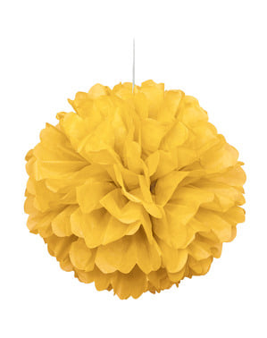 Żółty dekoracyjny pompon – Linia kolorów podstawowych