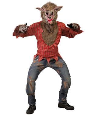 Déguisement de loup-garou féroce pour adulte