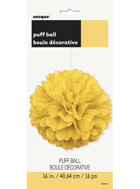 Pompón decorativo color amarillo - Línea Colores Básicos - para tus fiestas