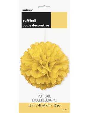 Pompon décoration jaune - Gamme couleur unie