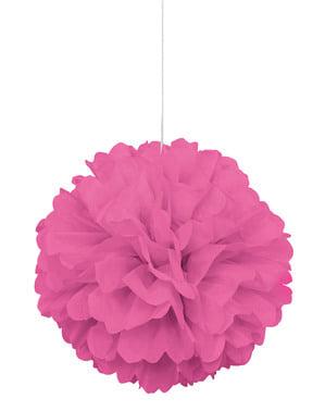 Pompon décoration rose - Gamme couleur unie