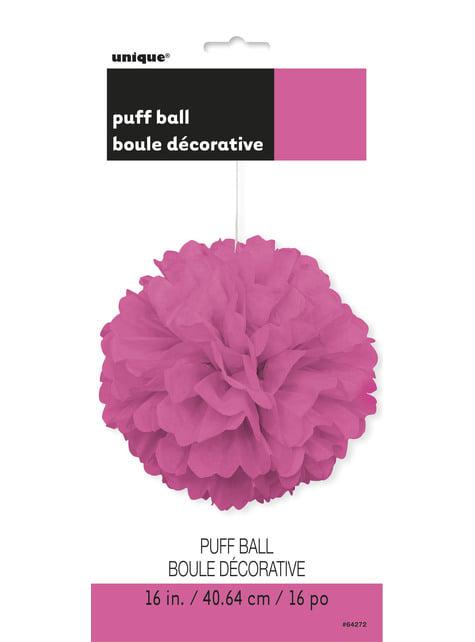Pompón decorativo color rosa - Línea Colores Básicos - para tus fiestas