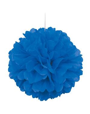 Decoratieve Donkerblauwe Pompon - Basis Kleuren Lijn