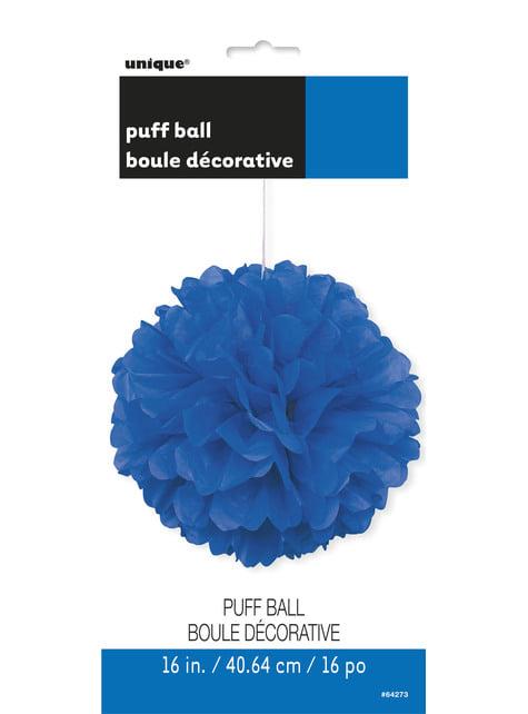 Pompón decorativo color azul oscuro - Línea Colores Básicos - para tus fiestas