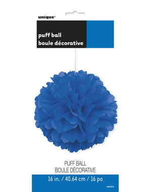 Pompón decorativo color azul oscuro - Línea Colores Básicos