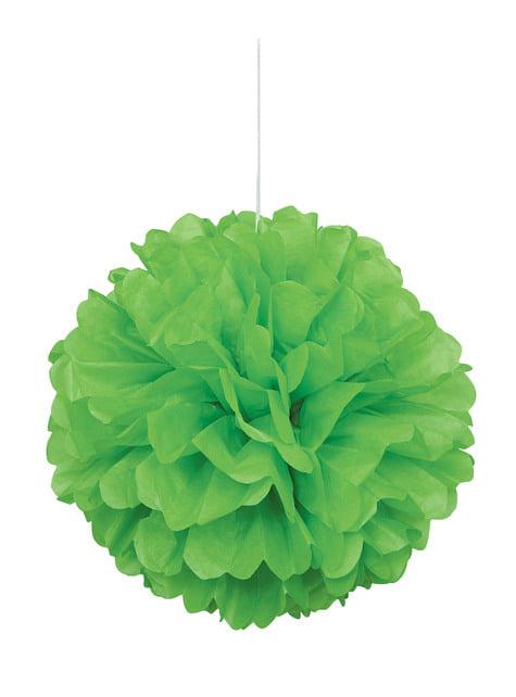 Pompón decorativo color verde lima - Línea Colores Básicos