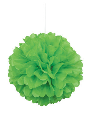 Pompon décoration vert citron - Gamme couleur unie