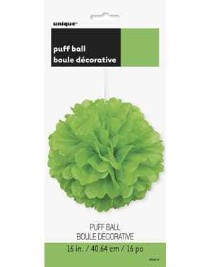 Decorative Lime Green Pom-Pom - Basic Colours Line