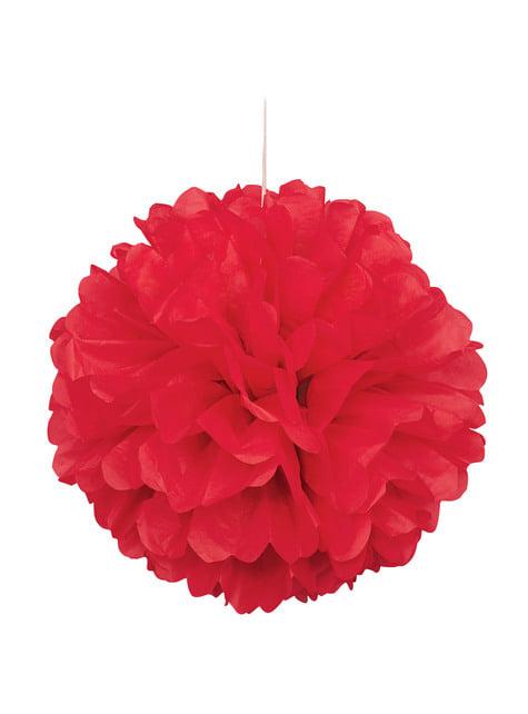 Pompón decorativo color rojo - Línea Colores Básicos