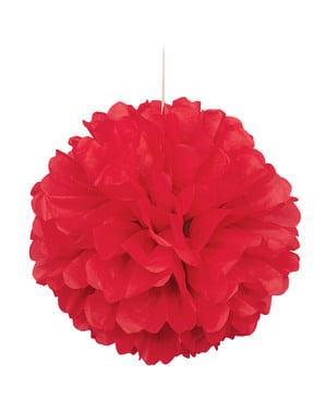 Pompon décoration rouge - Gamme couleur unie