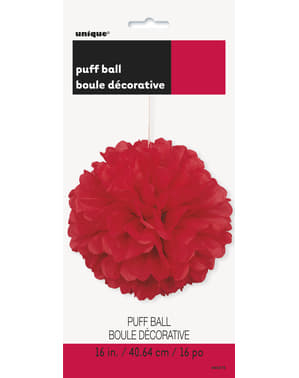 Czerwony dekoracyjny pompon – Linia kolorów podstawowych