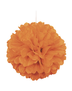 Decoratieve Oranje Pompon - Basis Kleuren Lijn