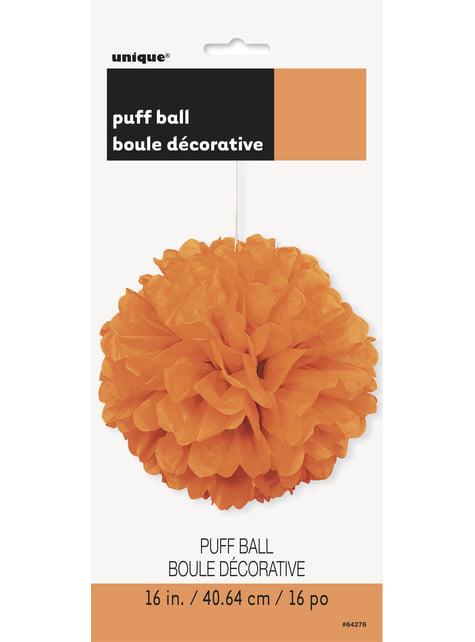 Pompón decorativo color naranja - Línea Colores Básicos - para tus fiestas