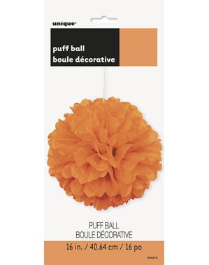 Pompon décoration orange - Gamme couleur unie